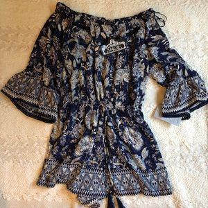 Navy Romper New With Tags
